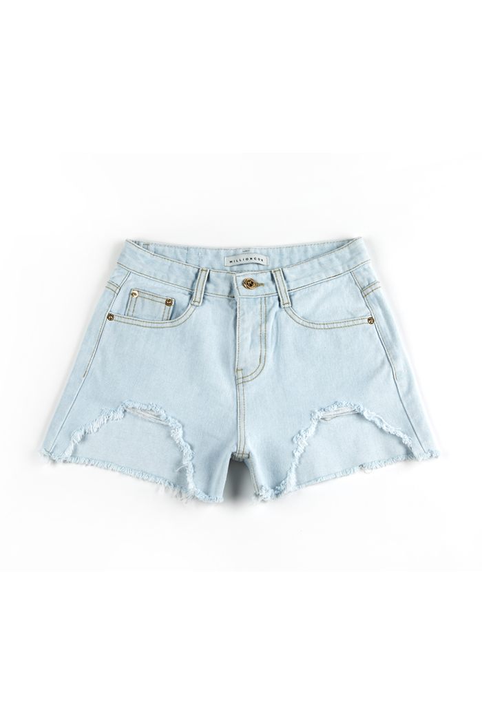 [Dana 8059] Light Vintage Destroyed Shorts